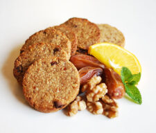 Galletas de avena, plátano y frutos secos